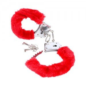 Catuse Fetish Fantasy Series Beginner's Furry Cuffs Red