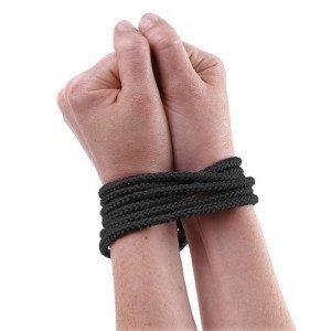 Sfoara Fetish Fantasy Series Mini Silk Rope Black