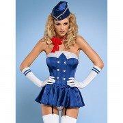 Costum De Stewardesa Corset Obssesive