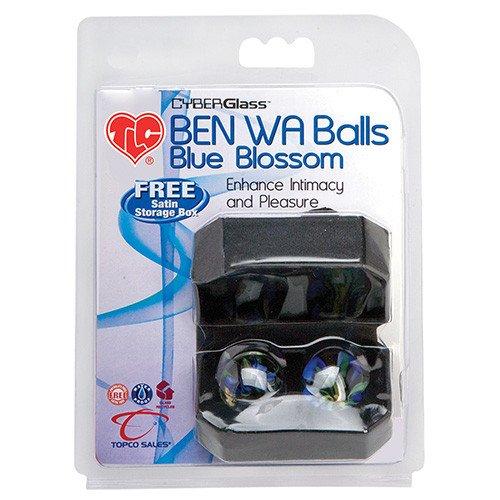 Bile Vaginale Tlc Cyberglass Ben Wa Balls Blue Blossom