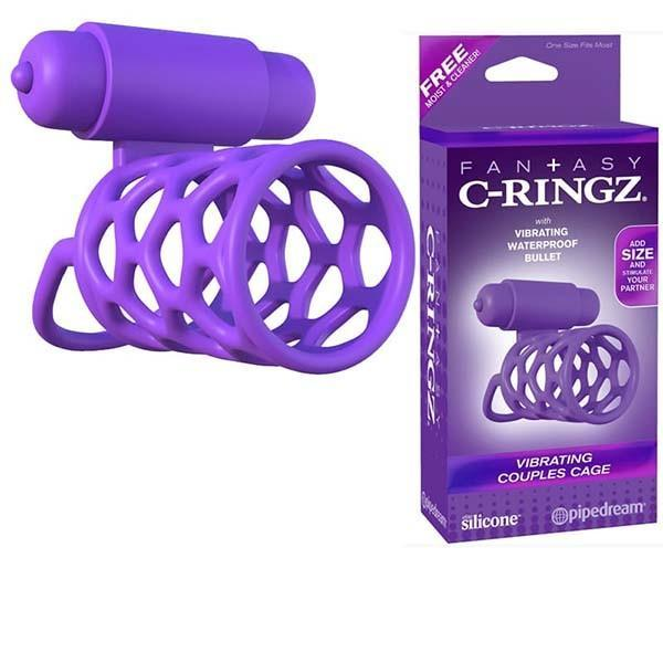 Inel Fantasy C-Ringz Vibrating Couples Cage