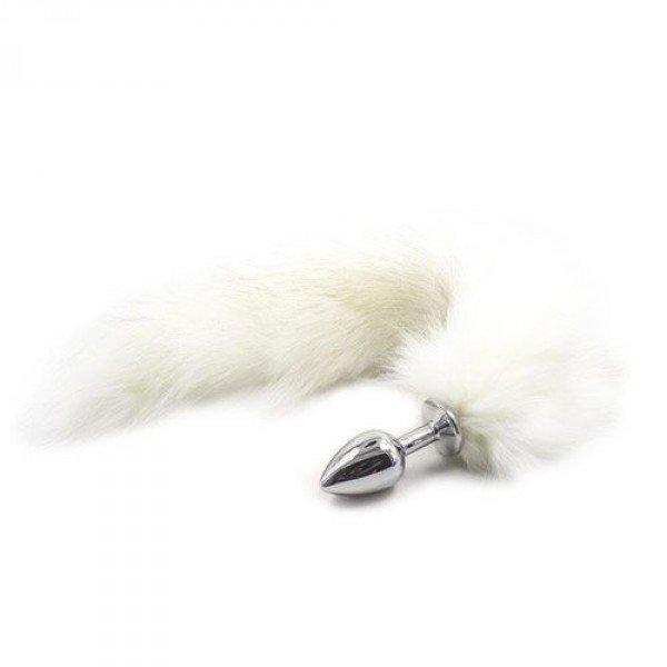 Plug Cu Coada De Vulpe (alb)