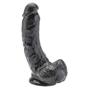 Dildo Realistic 8 Inch Black ToyJoy